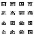 freplace icon set vector image