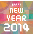 happy new year 2014 card26 vector image vector image