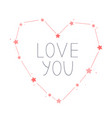 heart shape constellation valentine day vector image