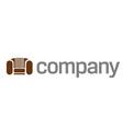 home sofa logo vector image vector image