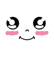 kawaii cute happy face expression vector image vector image
