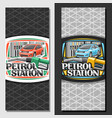 layouts for petrol station vector image