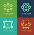line frames design elements vector image vector image