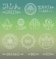 linear ecology and organic badges and logos vector image vector image