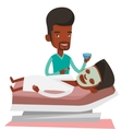 Man in beauty salon during cosmetology procedure vector image vector image