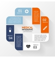 Medical healthcare circle plus sign infographic vector image vector image