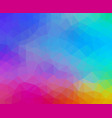 multicolored abstract geometric background with vector image vector image