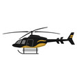 multipurpose helicopter icon isolated on white vector image vector image