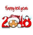 new year numbers 2018 and handball ball vector image vector image