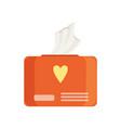 orange pack of wet baby wipes vector image