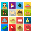 pick stones business and other web icon in flat vector image vector image