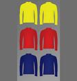polo t shirt long sleeve vector image vector image