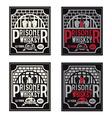 prisoner whiskey vintage labels set design vector image