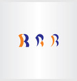 r letter blue orange logo icons design elements vector image