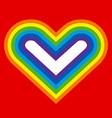 rainbow heart silhouette vector image vector image