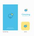 raining company logo app icon and splash page vector image vector image