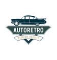 retro car logo template design vintage logo style vector image vector image