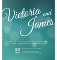 save date wedding invitation vector image