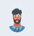 scared and panicked male face vector image vector image
