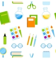 School supplies seamless pattern vector image