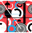 seamless bright abstract pattern geometric vector image vector image