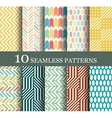 seamless modern patterns vector image vector image