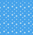 seamless snowflakes pattern background for vector image vector image