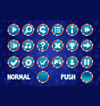 set christmas buttons for web and 2d games ui vector image vector image