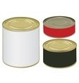 Set of aluminium colored label cans for signing vector image vector image