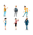 set of fashionable funny characters vector image vector image