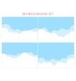 set sky background vector image