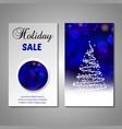 set stylized christmas tree invitation flyer vector image vector image