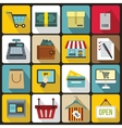 Shopping icons set flat style vector image vector image