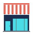 shopping store building - store front vector image vector image