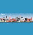 siena tuscany italy city skyline with color vector image vector image