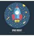 Space Rocket Conceptual Web Banner vector image vector image