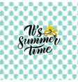 summer time handwritten design vector image