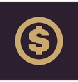 The dollar icon Cash and money wealth payment vector image vector image