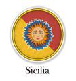 the symbol of the italian island of sicily vector image