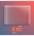 Transparent Glass Realistic Glass vector image vector image