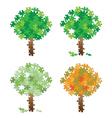 tree puzzle set vector image vector image