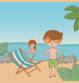 vacations and summer outdoor time vector image