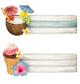 watercolor colorful drink and icecream banners vector image