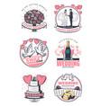Wedding celebration vintage symbol design