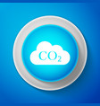 white co2 emissions in cloud icon isolated vector image vector image