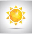 yellow sun weather icon vector image vector image