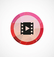 media circle pink triangle background icon vector image