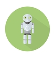 Robot with long shadow vector image