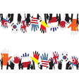 Flag hands vector image