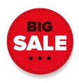 Big Sale label red vector image
